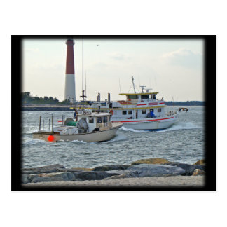 Coming Home - Fishing Boats in Barnegat Inlet Item Postcard