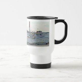 Coming Home - Fishing Boats in Barnegat Inlet Item Travel Mug