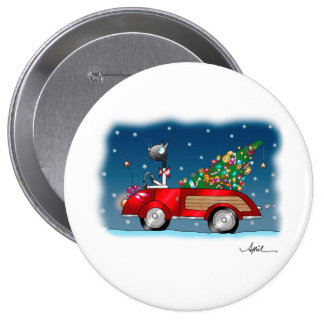 """COMING HOME FOR CHRISTMAS"" Button"