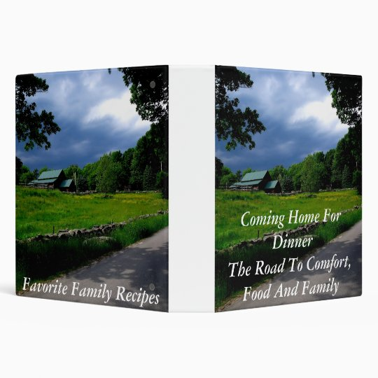 Coming Home For Dinner- The Road To Comfort-- 3 Ring Binder