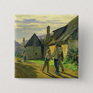 Coming home from the war, 1859 pinback button