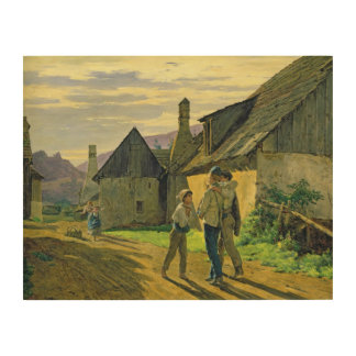 Coming home from the war, 1859 wood wall decor