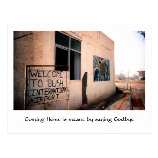 Coming Home is meant by saying Godbye Postcard