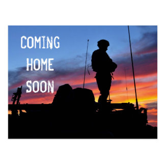Coming Home Soon Afghanistan postcard