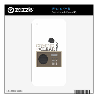 Coming In Clear iPhone 4S Decal