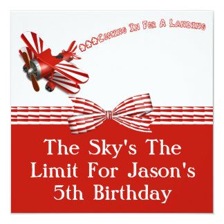 Coming In For Landing Airplane Birthday Card