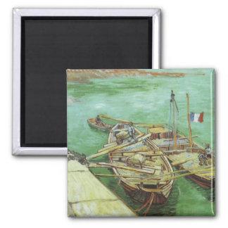 Coming into Harbor - Vincent Van Gogh Magnet