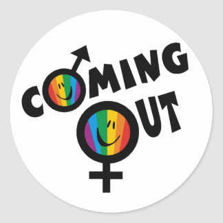 Coming Out Classic Round Sticker