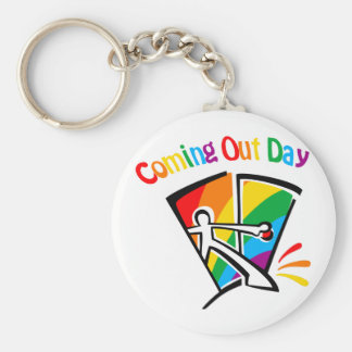 Coming out day key chain