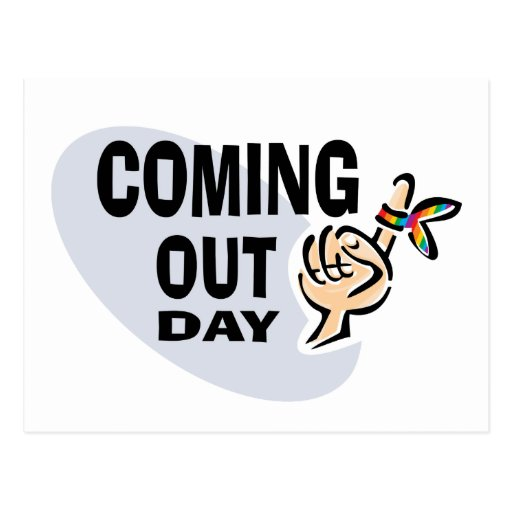 Coming Out Day Postcard