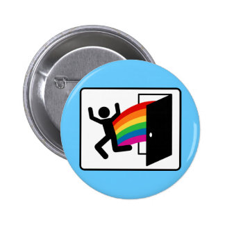 Coming Out Exit Sign Button