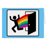 Coming Out Exit Sign Greeting Card