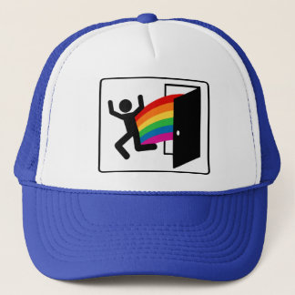 Coming Out Exit Sign Trucker Hat