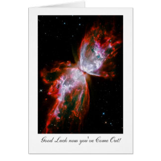 Coming Out Luck - Butterfly Nebula Outer Space Card