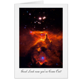 Coming Out Luck, Star Cluster Outer Space Card