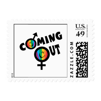 Coming Out Postage Stamp