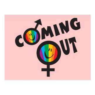 Coming Out Postcard
