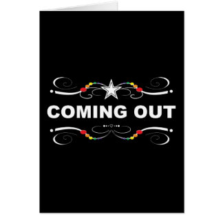 coming out rainbow flourish greeting cards