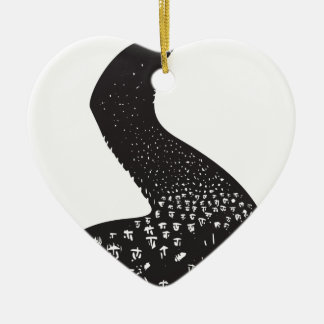 Coming Refugees Double-Sided Heart Ceramic Christmas Ornament