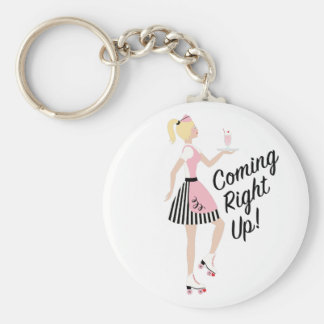 Coming Right Up Keychain
