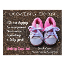 Coming Soon Baby Shoes   Pregnancy Announcement