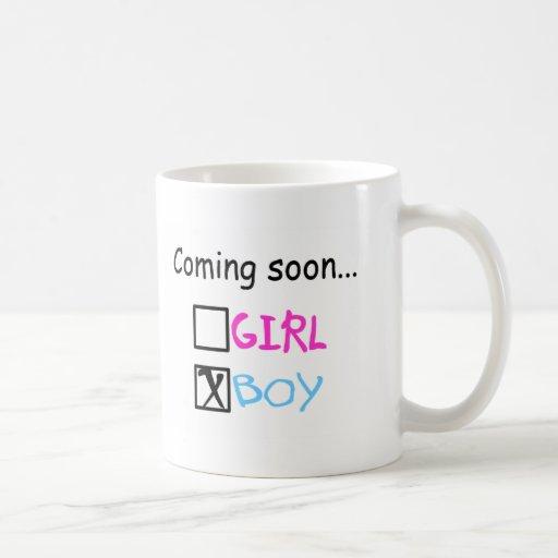 Coming Soon, Boy Coffee Mugs