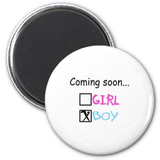 Coming Soon...(Boy) Fridge Magnet