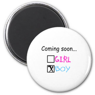 Coming Soon, Boy Refrigerator Magnets
