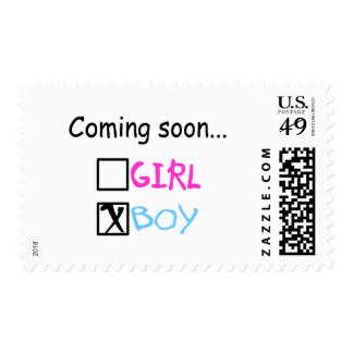 Coming Soon, Boy Postage Stamp