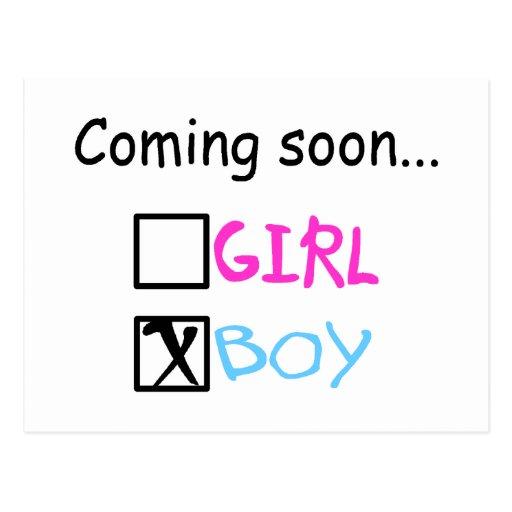 Coming Soon...(Boy) Postcard