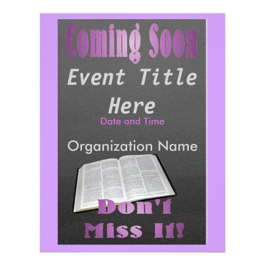 Coming Soon Flyer Purple   Zazzle