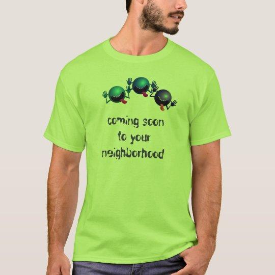 Coming Soon Funny Aliens Mens T-Shirt