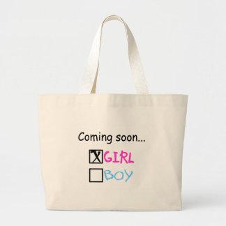 Coming Soon, Girl Large Tote Bag