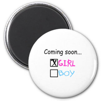 Coming Soon, Girl Fridge Magnets