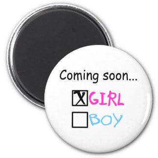 Coming Soon, Girl Fridge Magnet