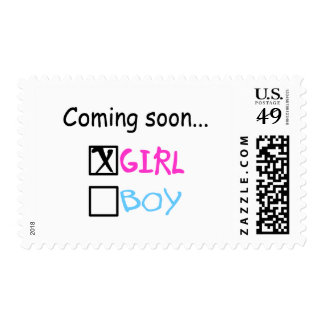 Coming Soon... (Girl) Postage Stamps
