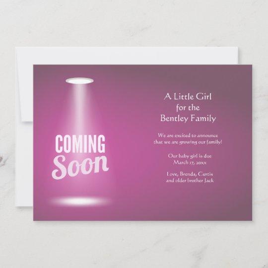 coming soon girl pregnancy announcement zazzle com