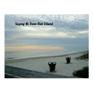 Coming Sunset over Seashore Postcard