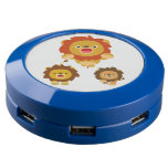 """Coming!!"" Three Cute Cartoon Lions USB Charging Station"