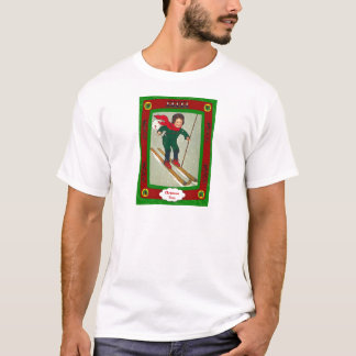 Coming through, boy on skis T-Shirt