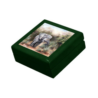 Coming Through Elephant Gift Case Keepsake Box