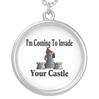 Coming To Invade Your Castle Silver Plated Necklace