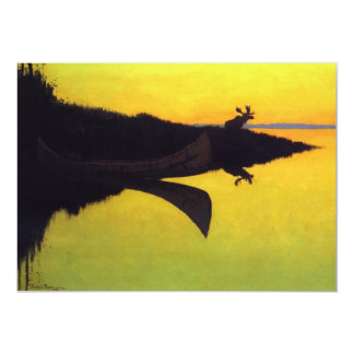 Coming to the Call by Frederic Remington 5x7 Paper Invitation Card