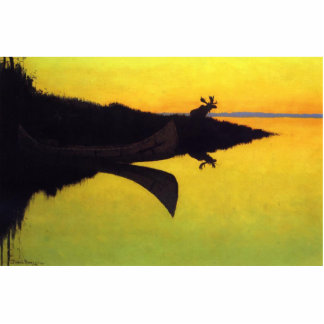 Coming to the Call by Frederic Remington Acrylic Cut Out