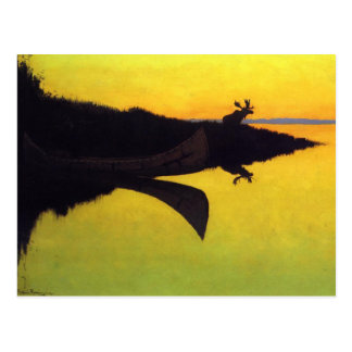 Coming to the Call by Frederic Remington Postcards
