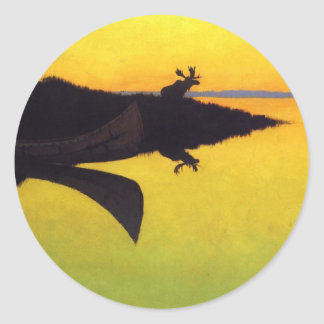 Coming to the Call ~ Frederic Remington Classic Round Sticker
