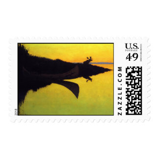 Coming to the Call ~ Frederic Remington Postage