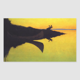 Coming to the Call ~ Frederic Remington Rectangular Sticker