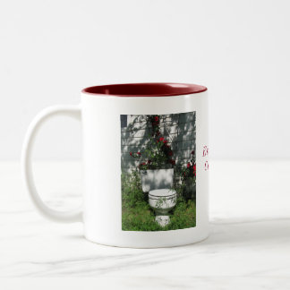 Coming Up Roses Two-Tone Coffee Mug