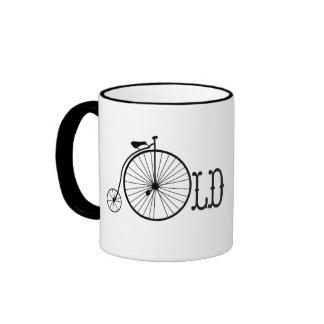 Comino del penique de la bicicleta de la escuela taza a dos colores
